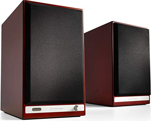 Audioengine HD6 150W Wireless Powered Bookshelf Speakers, Bluetooth aptX HD, USB 24-Bit DAC & Analog Amplifier (Cherry)