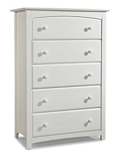 Stork Craft Kenton 5 Drawer Universal Dresser, White (Drawer Dresser)