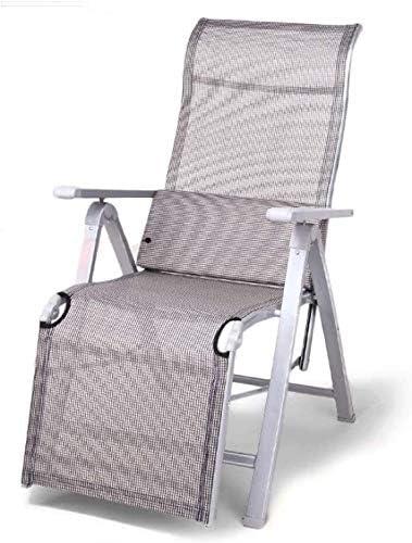 ADHW Reclinable Silla al Aire Libre, sillón Individual Acolchados, Muebles de jardín, Camping de jardín Sillas de Ruedas, Jardín Tumbona Ligeros (Color : Gray): Amazon.es: Hogar