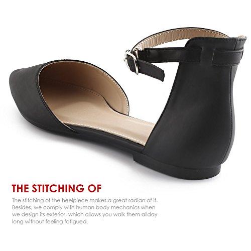 Sibba Mujer 39 Leather Faux UK Hebilla 6 Bailarinas pCqwvpf