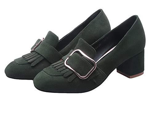 Tacco AllhqFashion Ballet Medio Tirare FBUIDD007108 Flats Donna Verde Puro nrxWAX6rE