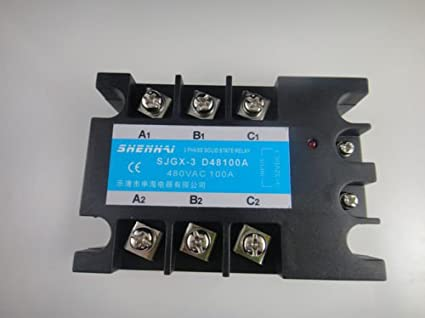 three phase 3 phase dc ac solid state relay ssr 100a 100a amazonimage unavailable image not available for color three phase 3 phase dc ac solid state relay