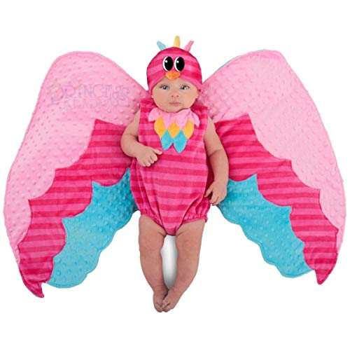 Princess Paradise Baby Swaddle Wings Drooly Drac Deluxe Costume, Sweet Owl, 0 to 3 Months