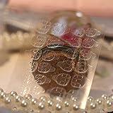 50 or 30 sheets/lot Double-side Glue Sticker Transparent Flexible Fake Nail Tips Adhesive Nail Glue (50pcs)