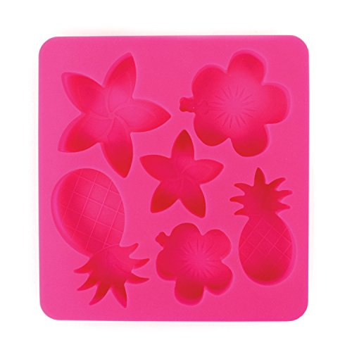 Hibiscus Flower Bowl - Tropic Chillers Silicone Ice Cube Tray - Beach Themed Shaped Ice Cubes - Pink