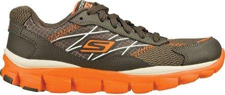 Skechers Boys' GOrun Ride 2 Innate,Charcoal/Orange,US 2.5 M