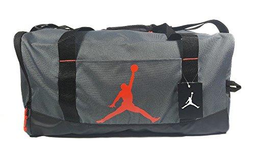 780554432f Amazon.com  Nike Air Jordan Jumpman Trainer Duffel GYM Bag (Black Silver)   Sports   Outdoors