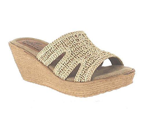 Sbicca Women's Rhodes Wedge Sandal,Natural,7 B US