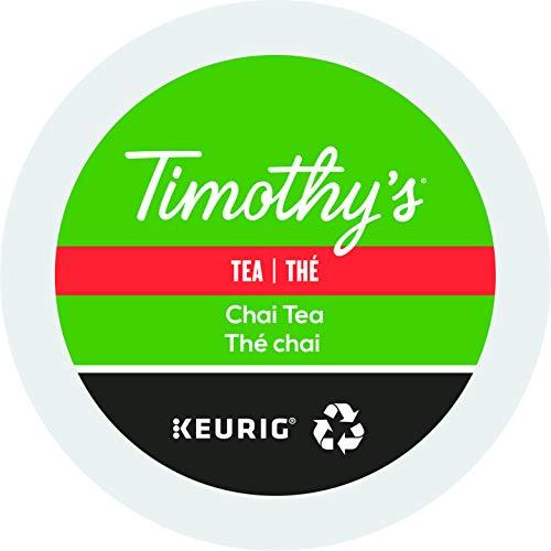 Timothys Cinnamon Tea - Timothy's World Coffee, Chai Tea K-Cups, 24 - 2.64 ounce