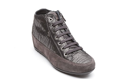 IGI&CO 8782 Grigio Scarpa Donna Sneakers Zeppa Interna Pelle Made in Italy