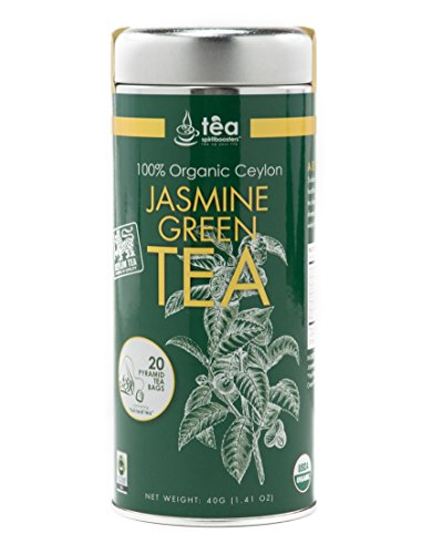 100% Organic Ceylon Jasmine Green Tea (40 Grams)