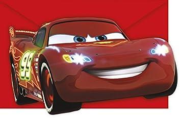 Neon Cars Party Einladungen Einladungskarten Kindergeburtstag