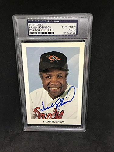 Frank Robinson Signed Postcard Baltimore Orioles HOF - PSA/DNA Certified - MLB Cut Signatures from Sports Memorabilia