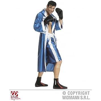 Traje MONUMENTAL calzón/Bata Boxeo / boxerkostüm EN AZUL TALLA S=48: Amazon.es: Juguetes y juegos