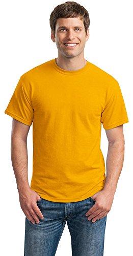 Gildan Mens DryBlend 50 Cotton/50 Poly T-Shirt, Small, Gold