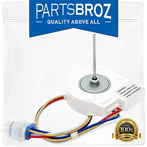 WR60X10185 Evaporator Fan Motor for GE & Hotpoint Refrigerators by PartsBroz - Replaces Part Numbers AP3875639, PS1019114, WR60X10043, WR60X10154, and More