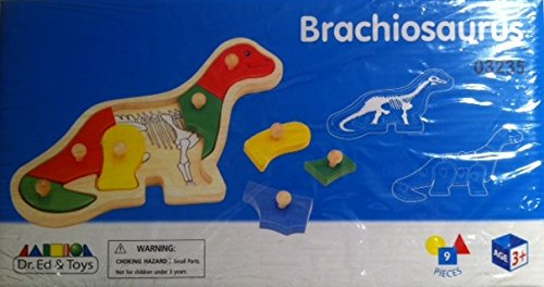 BRACHIOSAURUS:Wooden Dinosaur Construction Toy