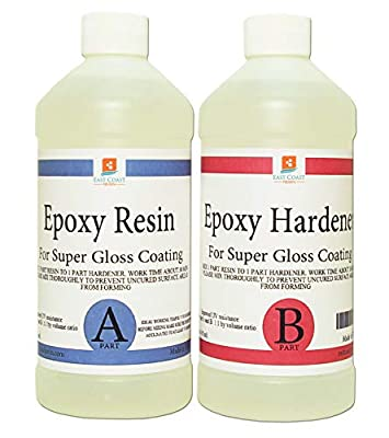 EPOXY Resin Crystal Clear 8 oz Kit. for Super Gloss Coating and TABLETOPS