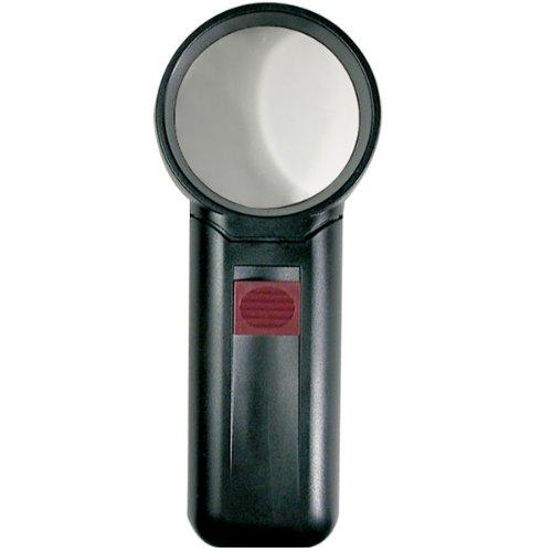 4X Round Acrylic Illuminated Magnifier 1.75 Inch ()