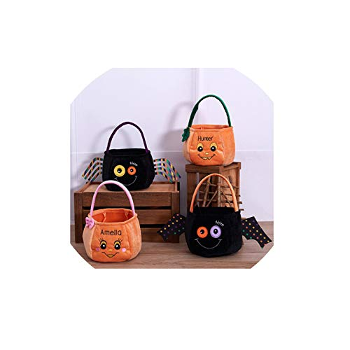 Adisaer Halloween Candy Pumpkin Hand Bags Trick or Treat Bags Felt Bags with Handle for Kids Halloween Costume Party