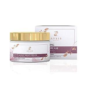 AYSIS essentials Anti Aging Night Cream with No Parabens & Mineral Oil Night Cream, 50gm