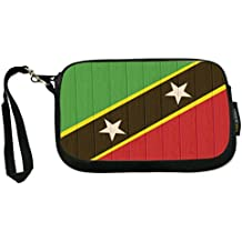 Rikki Knight South Africa Flag on Distressed Wood - Neoprene Clutch Wristlet Coin Purse with Safety Closure - Ideal case for Cosmetics Case, Camera Case, Cell Phones, Passport, etc..