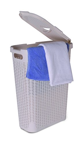 Superio Palm Luxe Laundry Hamper, Beige