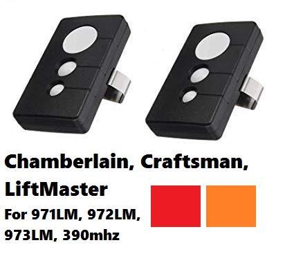 Craftsman Garage Door Transmitter - 2 for Sears Craftsman 139.53681B Garage Door Opener Remote Transmitter 139.53680