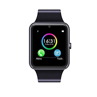 RaaawarHWWE Smart Watch Phone Phone Syc Support, Black