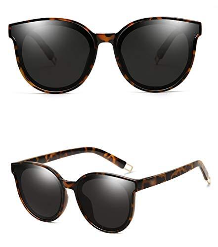 Negro Polarizada Retro UV última WJYTYJ Retro La Protección De Sol Marco Gafas contra La Marco Radiación Grande Unisex Gafas Fq60q