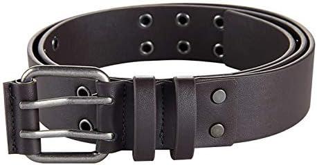 Funnmart Metal Rivet Studded PU Wide Man Belt Studs Beaded PU Leather Belt for Men Fashion Cowboy Big Belt Double Pin Buckle