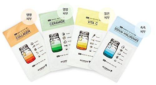 Skin-Food-Boosting-Juice-2-step-Mask-Sheet-25-ml23-ml-Variety-Set-4-Sheets