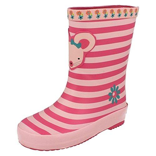 Clarks Tarri Candy Inf Girls Wellies in Pink Combi 10.5 Pink Combi