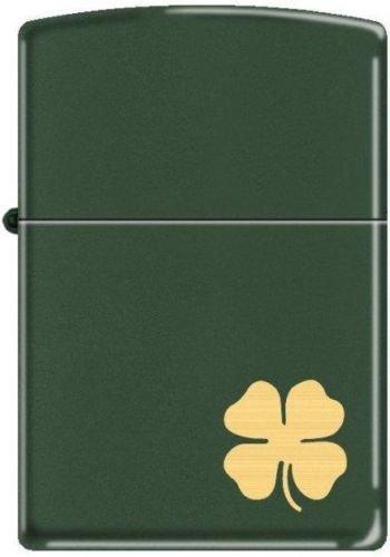 ZIPPO 221 Green Matte CLOVER Wind Proof Lighter
