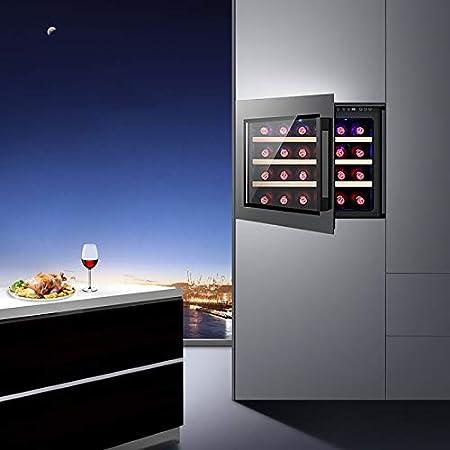 Mini Vinoteca Nevera vinos Nevera Termoeléctrico para Bodega de Vino de Encimera Pequeña para Dormitorio Oficina Cocina 24 Botellas
