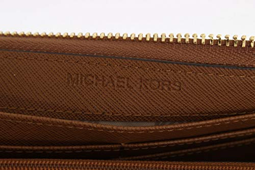 7e017b23b5a7 Michael Kors Zip Jet Set Travel Leather Wallet (Luggage) | Weshop ...