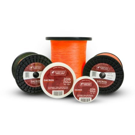 - Scientific Anglers Dacron Fly line Backing, Orange, 20# 250 yd
