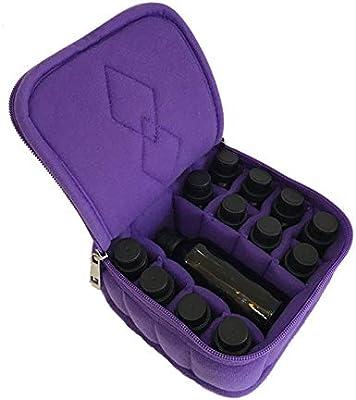 MxZas Durable 12 Ranura Aceites Esenciales Estuche Exterior del Organizador del Almacenaje Sostiene - Ajuste para el Young Living (Color : Púrpura, tamaño : 15X15X8CM): Amazon.es: Hogar