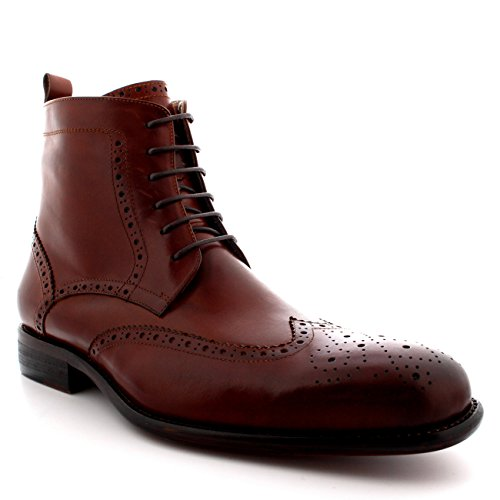 Wing cap Uomo Vera Pelle Smith Caviglia Stivali Pieno Oxfords Tan Queensbury Scarpe 0fwTYF
