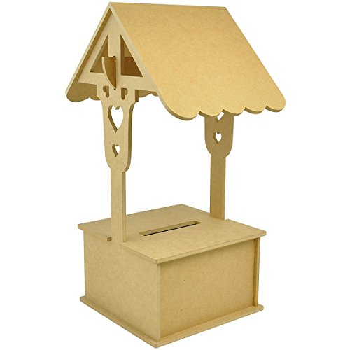 Kaisercraft SB2247 Beyond The Page MDF Wishing Well Decor Accent, 11.75 by 11.75 by 24-Inch]()
