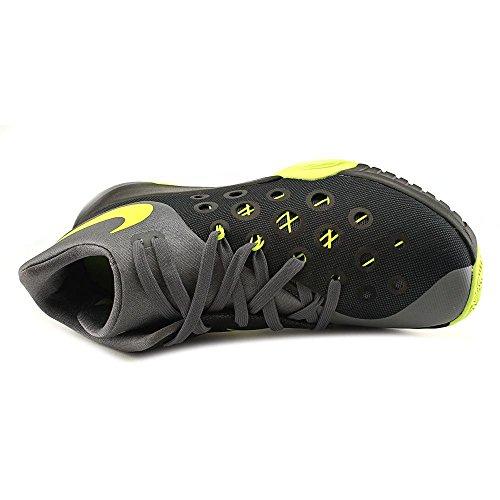 Nike Zoom Hyperquickness 2015 - Zapatillas de baloncesto, Hombre Negro / Verde / Gris (Black / Volt-Dark Grey)