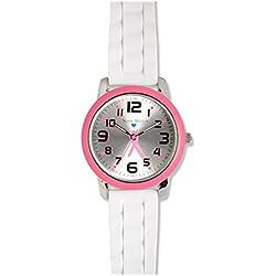 Nurse Mates Color Top Ring Watch Pink Ribbon
