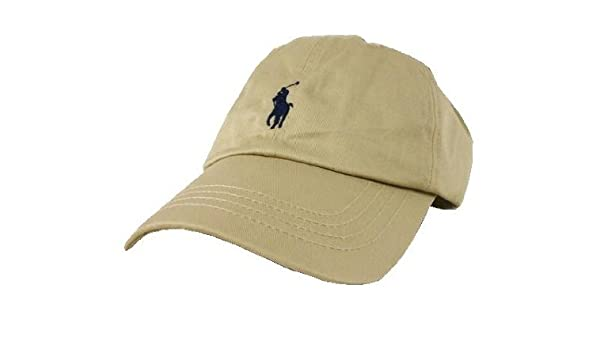 Amazon.com  Polo Ralph Lauren Baseball Cap Khaki Size 4-7  Clothing f114ac58ba2
