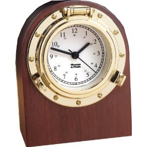 (Weems & Plath Porthole Collection Desk Clock with Mini Tool Box (fs))