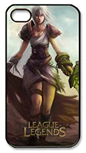 LZHCASE Personalized Protective Case for iphone 4 - Game League of Legends Riven