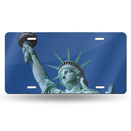 AXGOGO Upward View of The Statue of Liberty Personalized Custom Name License Plate Tag Custom Name State Your Name Your State - Choose from All 50 States, 6