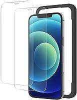 NIMASO ガラスフィルム iPhone12 / iPhone12Pro 用 強化 ガラス 保護 フィルム ガイド枠付き 2枚セット