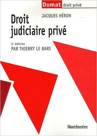Lire Droit judiciaire privé epub, pdf