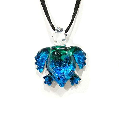 Handmade Ocean Blue Sea Turtle Art Glass Blown Sea Animal Figurine Pendant Necklace Jewelry - Model Y2016 by We Are Handmade Jewelry Art Glass Blown (Image #8)