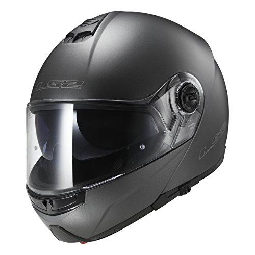 LS2 Helmets Strobe Solid Modular Motorcycle Helmet with Sunshield (Gunmetal, XXX-Large)